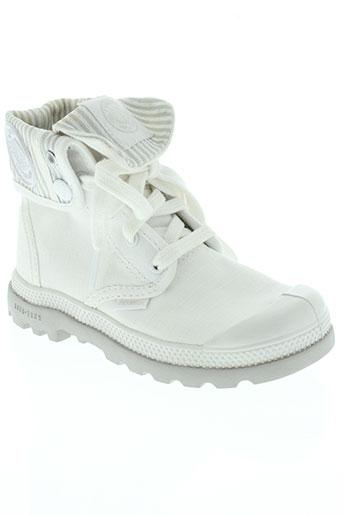 palladium chaussures enfant de couleur blanc