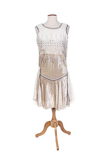 anna sui robes femme de couleur beige