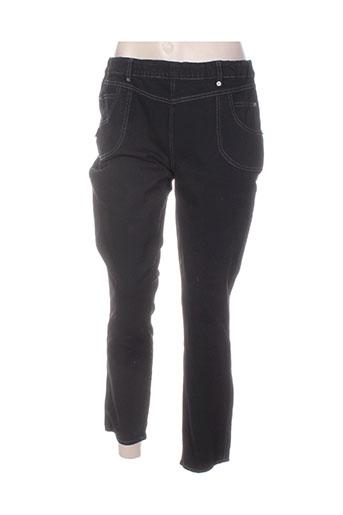 legzskin pantalons femme de couleur noir