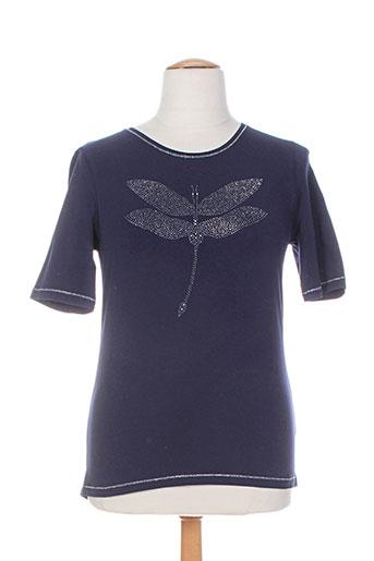 erfo t-shirts femme de couleur bleu