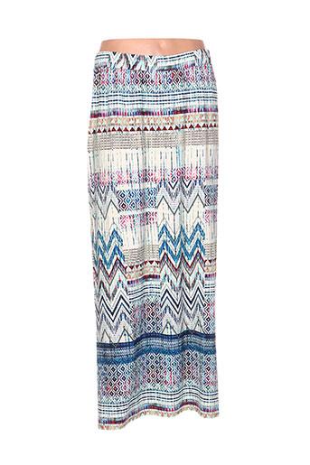 chalou jupes femme de couleur bleu