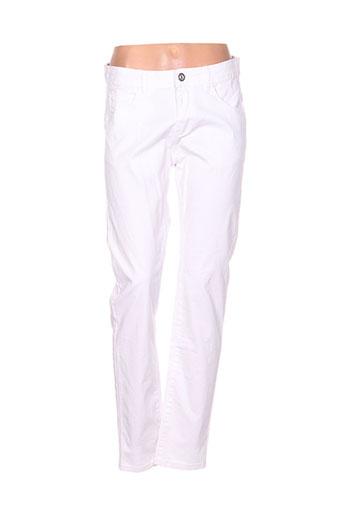 jean gabriel pantalons femme de couleur blanc
