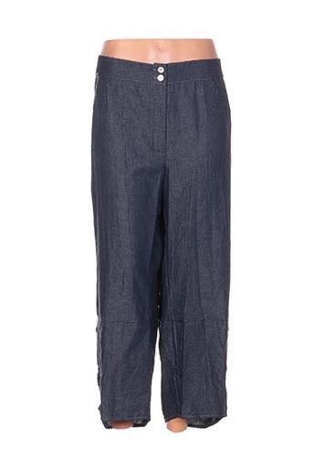 jean gabriel pantacourts femme de couleur bleu