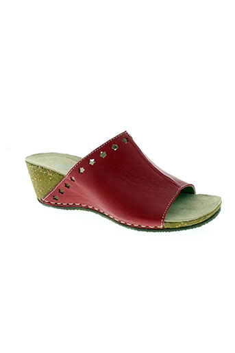 pedi green chaussures femme de couleur rouge