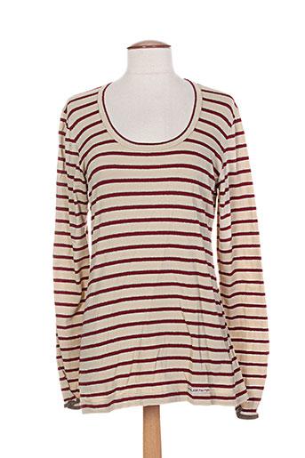 cinq six mouches t-shirts femme de couleur rouge