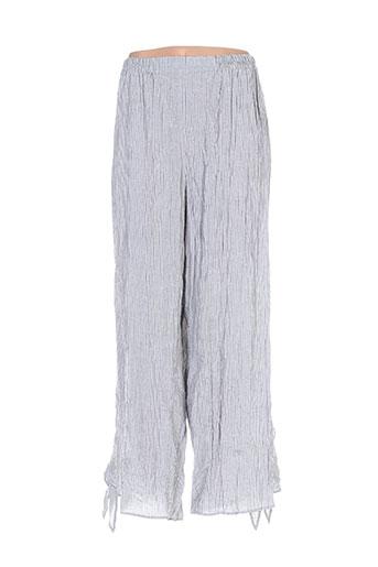 kristina pantalons femme de couleur gris
