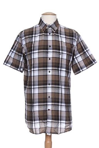 jean chatel chemises homme de couleur marron