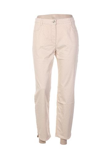betty blue pantalons femme de couleur beige
