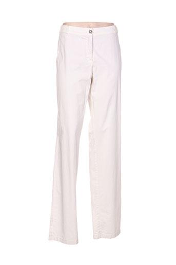 claudia gil pantalons femme de couleur blanc
