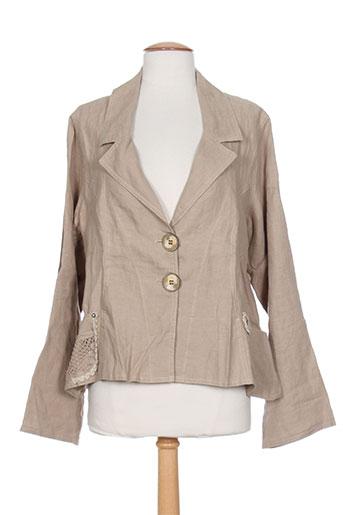 Veste casual beige CATY LESCA pour femme