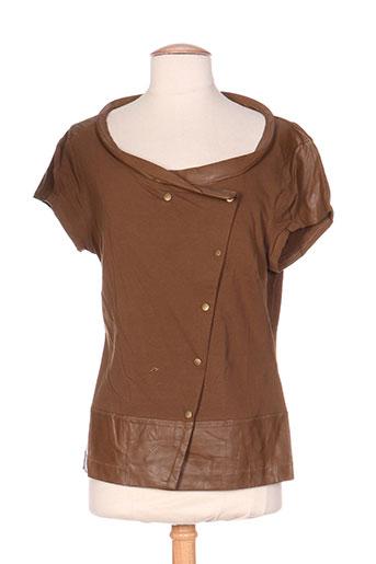 mais il est ou le soleil t-shirts / tops femme de couleur marron
