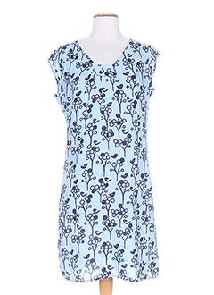 Robe mi-longue bleu AMARI pour femme