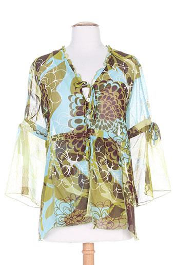 terramoda chemises femme de couleur vert