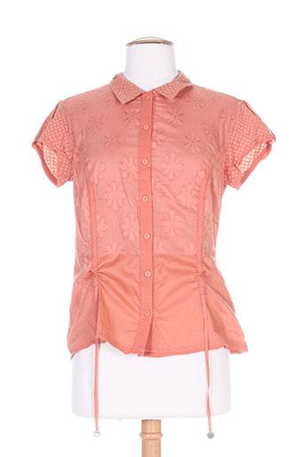 solola chemises femme de couleur orange