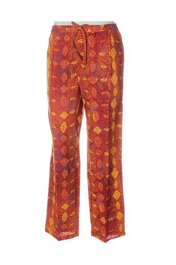 terracotta pantalons femme de couleur orange