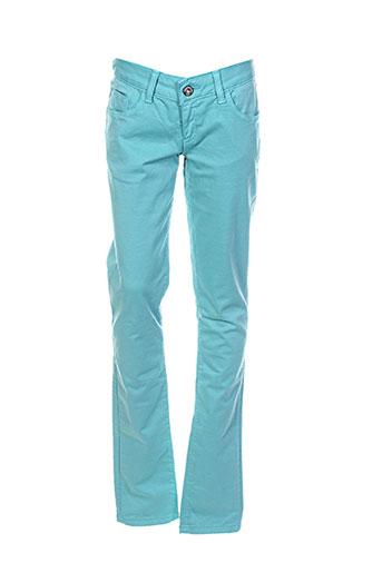 guess pantalons fille de couleur bleu