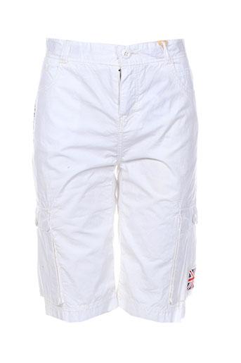 pepe jeans shorts / bermudas garçon de couleur blanc
