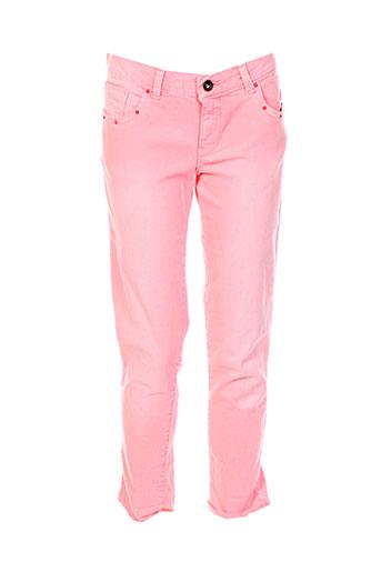 guess pantalons fille de couleur rose