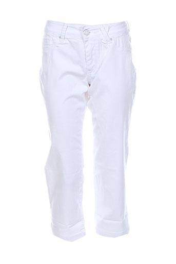 teddy smith pantacourts fille de couleur blanc