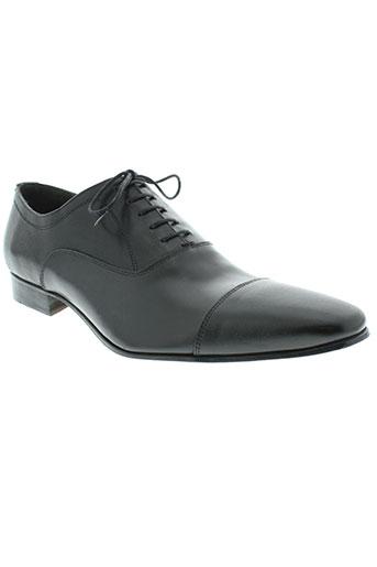 izac chaussures homme de couleur noir
