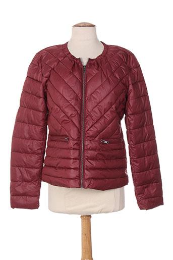 intown manteaux femme de couleur rouge
