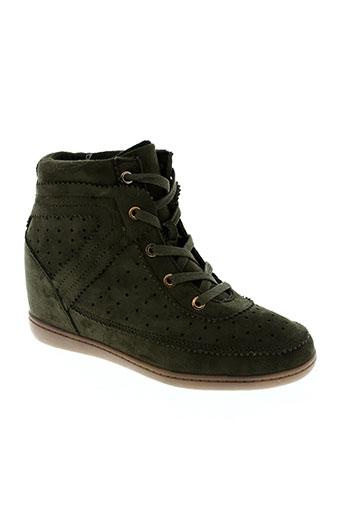 ichi chaussures femme de couleur vert