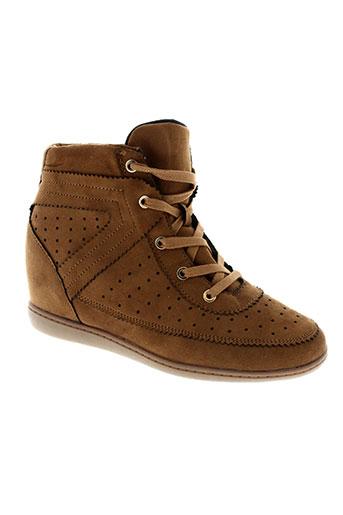 ichi chaussures femme de couleur marron