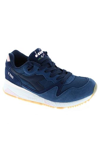 diadora chaussures femme de couleur bleu