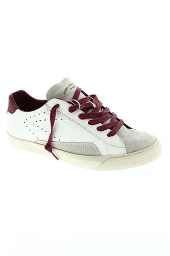 0-105 chaussures homme de couleur blanc
