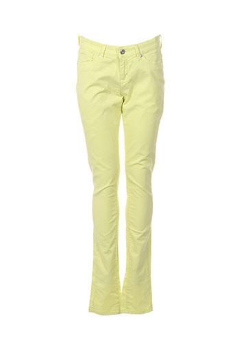pepe jeans pantalons fille de couleur jaune