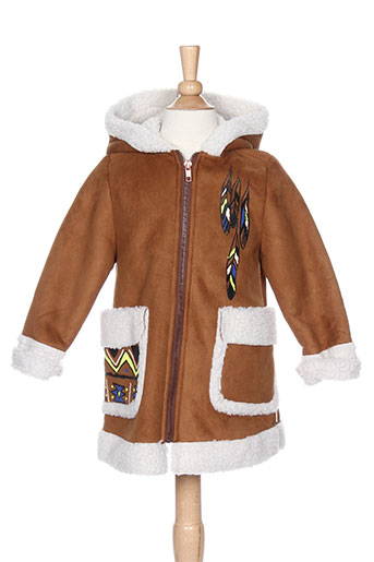 billieblush manteaux fille de couleur marron