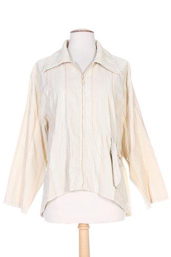 neslay vestes femme de couleur beige