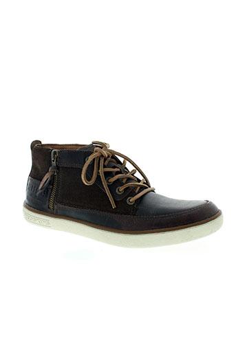 redskins chaussures homme de couleur marron