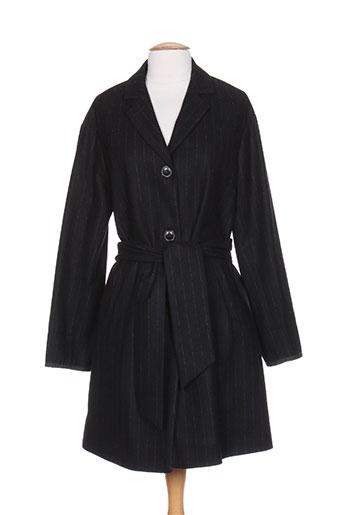 bellerose manteaux femme de couleur noir