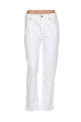 chloé stora pantalons femme de couleur blanc