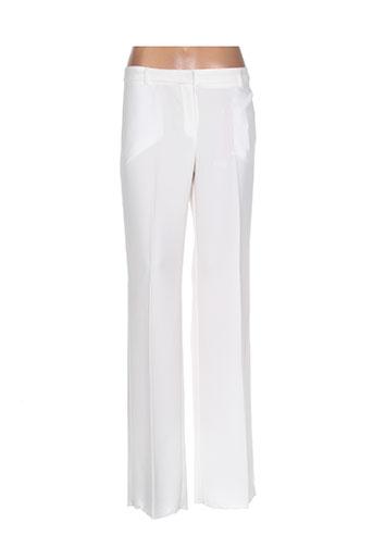 i blues pantalons femme de couleur blanc
