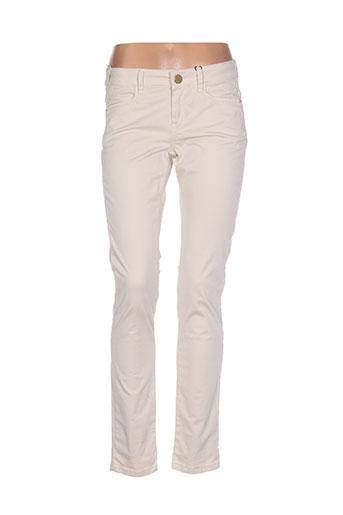 marella pantalons femme de couleur beige