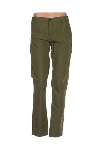 bellerose pantalons femme de couleur vert