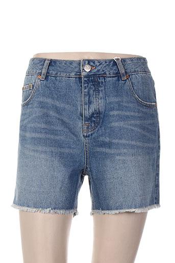mkt studio shorts / bermudas femme de couleur bleu