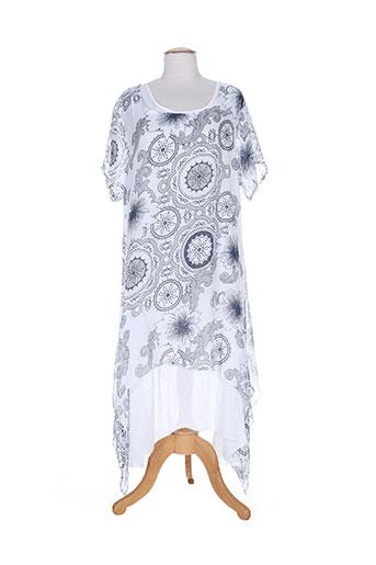 belle robes femme de couleur bleu