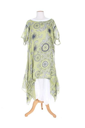 belle robes femme de couleur vert