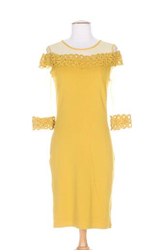 lulumary robes femme de couleur jaune