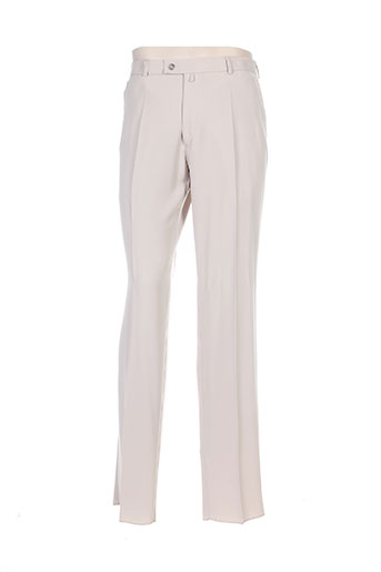 franck elisee pantalons homme de couleur beige