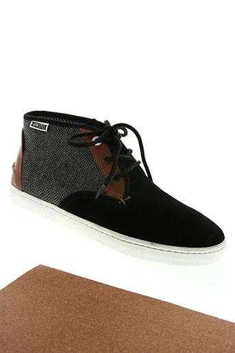 armistice chaussures homme de couleur noir