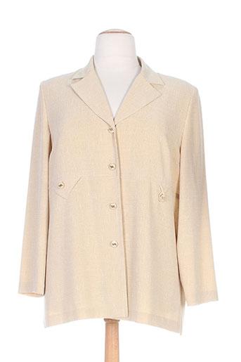 coutureine vestes femme de couleur beige