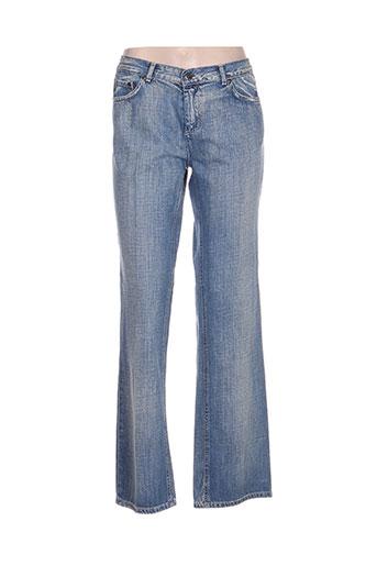 entracte jeans femme de couleur bleu