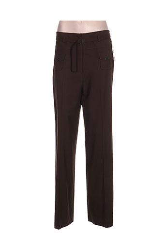 irene van ryb pantalons femme de couleur marron