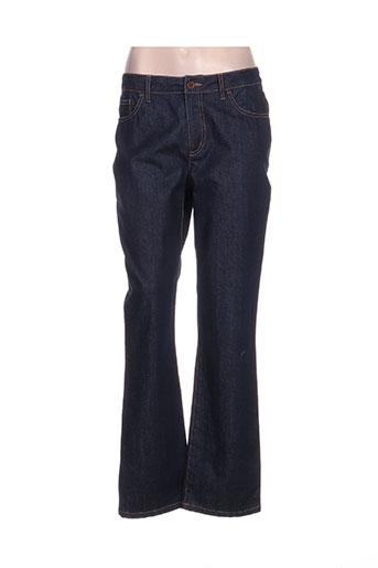 irene van ryb jeans femme de couleur bleu