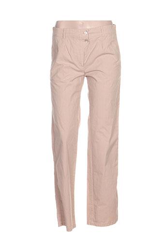 victoire pantalons femme de couleur beige