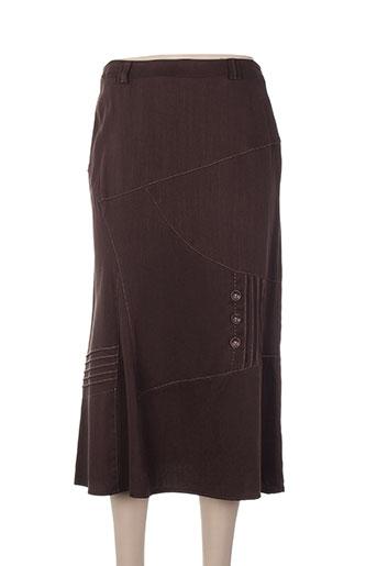 christine laure jupes femme de couleur marron